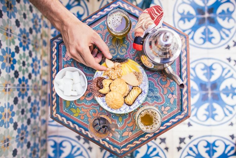 комната отдых, чай в турецкой бане хаммам