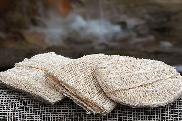 натуральные мочалка из сизаля
